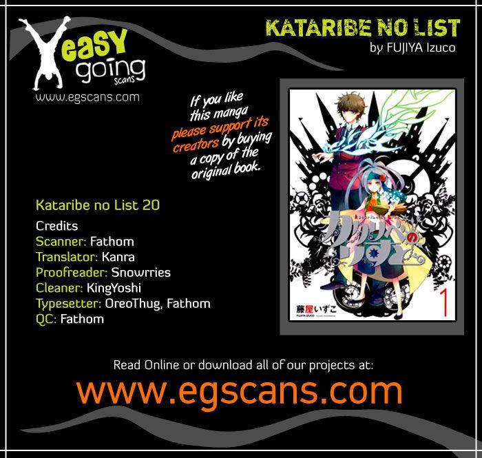 Kataribe No List 20 Page 1