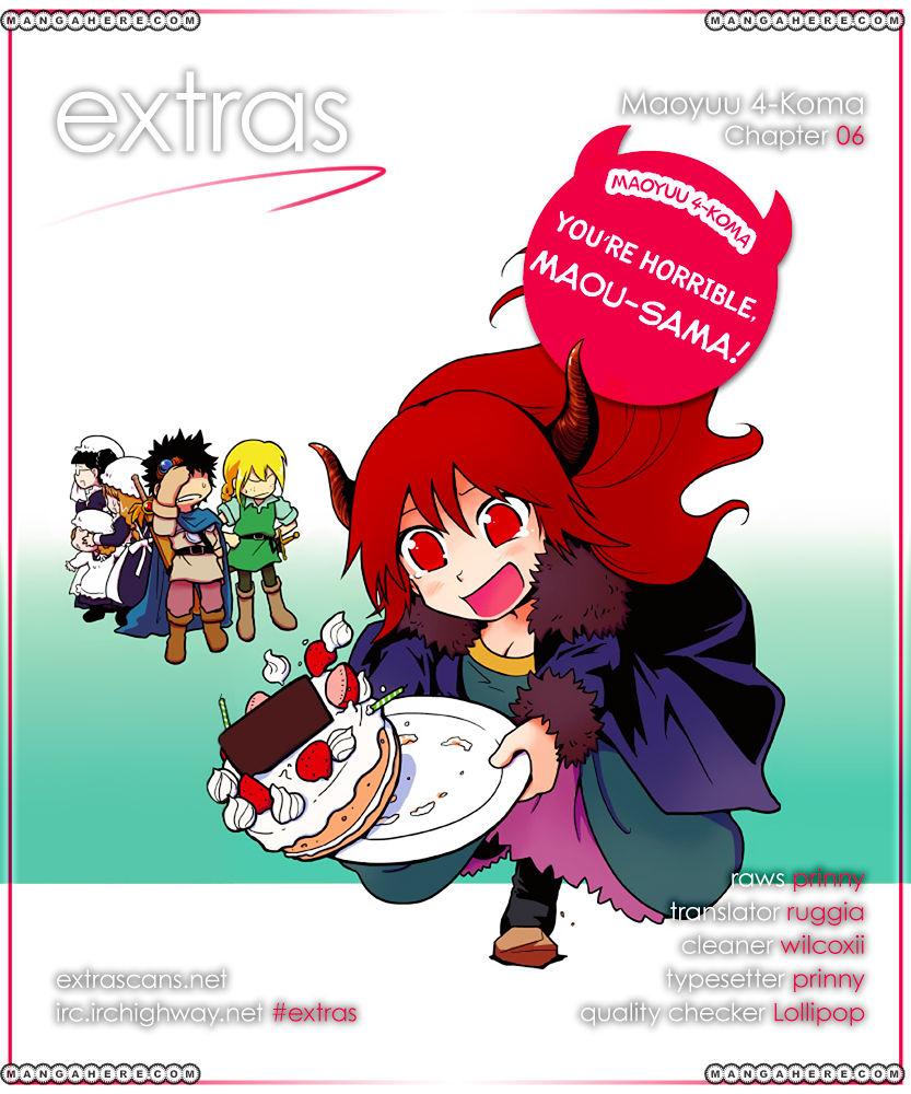 Maoyuu 4-Koma: You're Horrible, Maou-sama! 6 Page 1