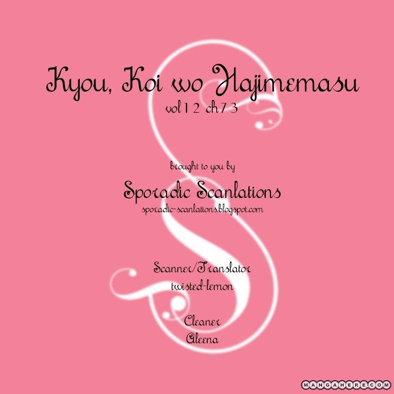 Kyou, Koi wo Hajimemasu 73 Page 1