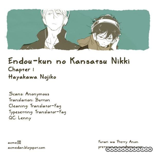 Endou-kun no Kansetsu Nikki 1 Page 1