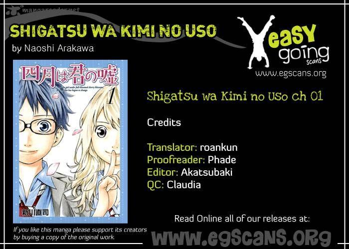 Shigatsu wa Kimi no Uso 1 Page 2