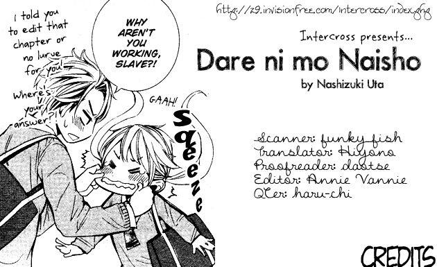 Dare nimo Naisho (NASHIZUKI Uta) 1 Page 1