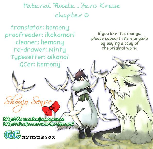Material Puzzle - Zero Kreuz 0 Page 1