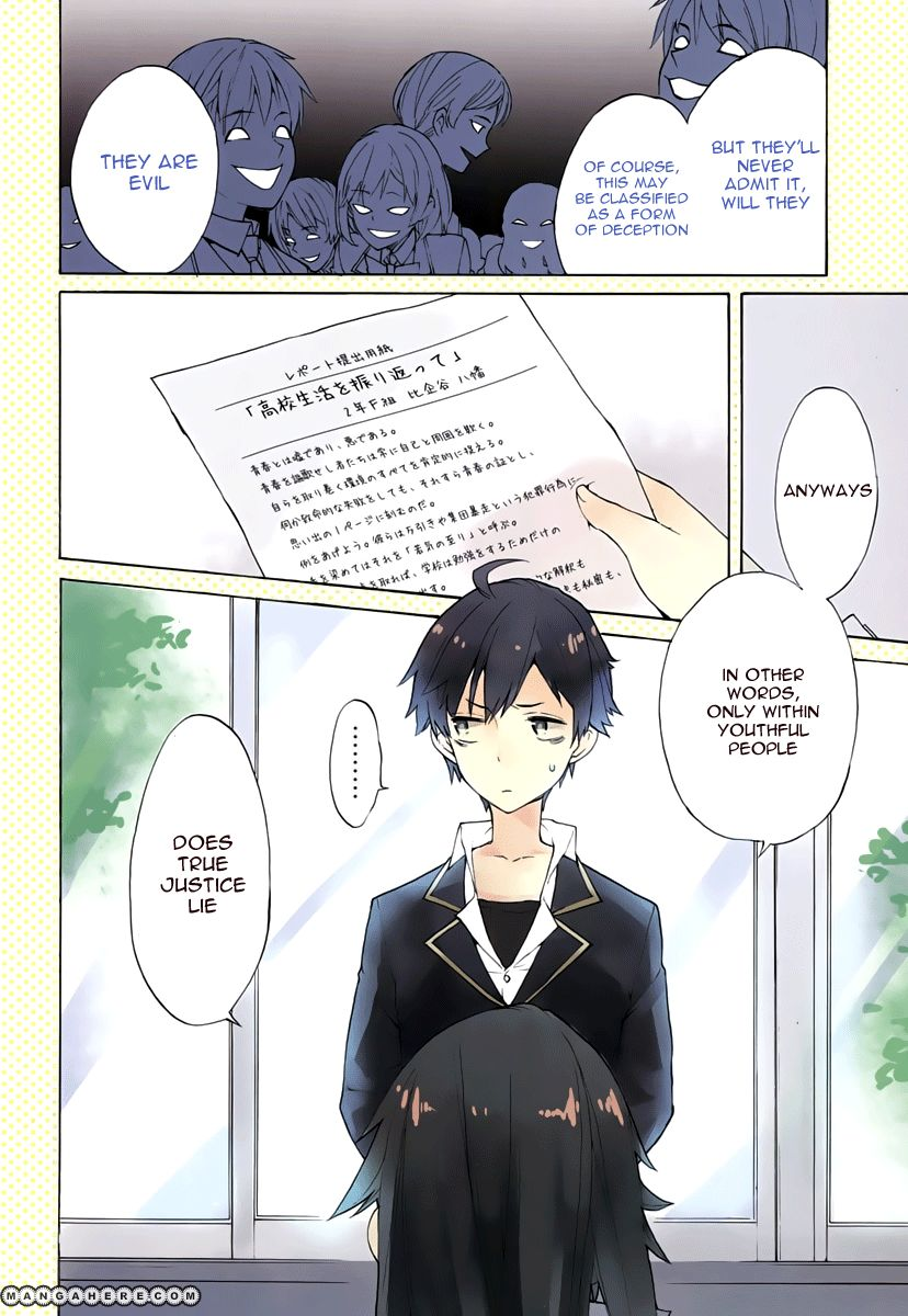 Yahari Ore no Seishun Love Come wa Machigatteiru 1 Page 2
