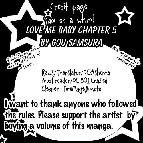Love Me Baby(SASAMURA Gou) 5 Page 1