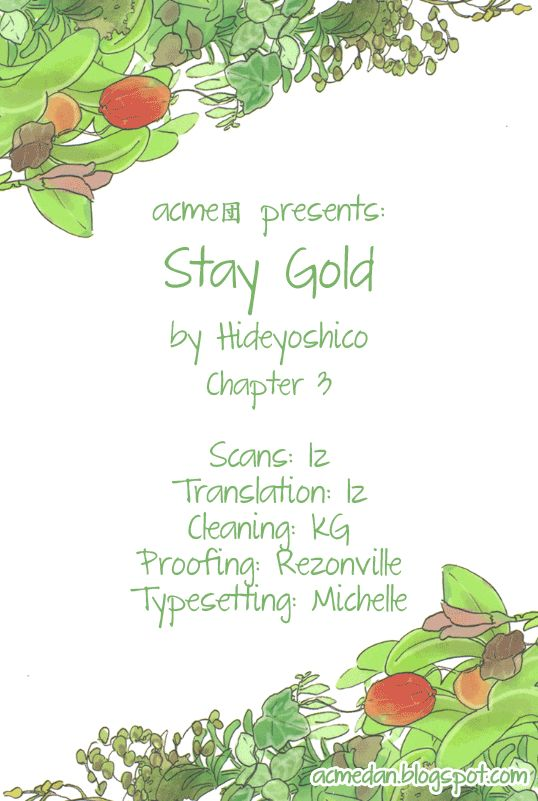 Stay Gold (Hideyoshico) 3 Page 1