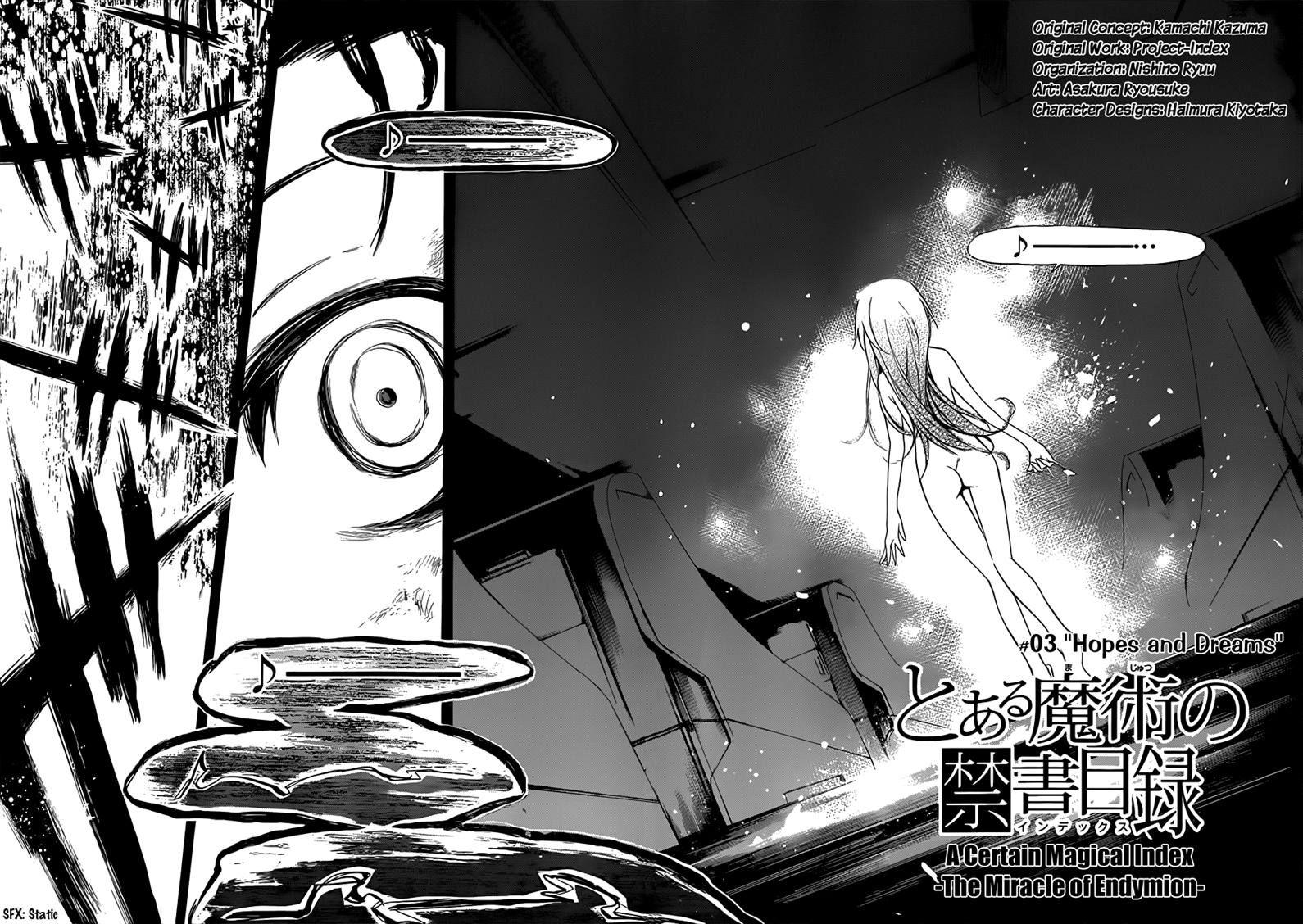 To Aru Majutsu no Kinsho Mokuroku - Endymion no Kiseki 3 Page 2