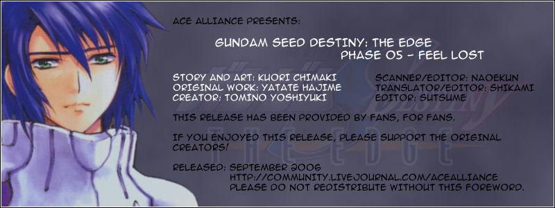 Kidou Senshi Gundam SEED Destiny the Edge 5 Page 1