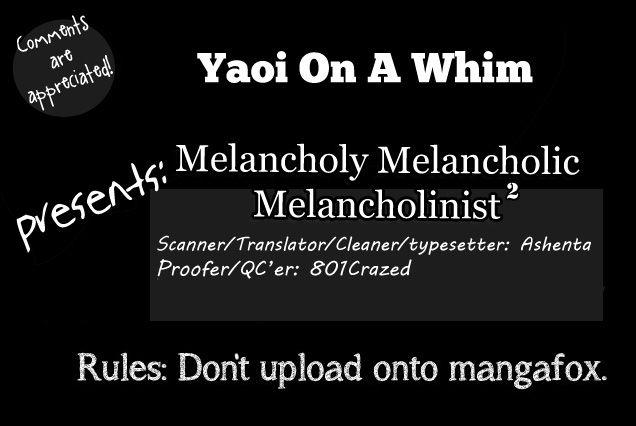 Melancholy Melancholic Melancholinist 2 Page 1
