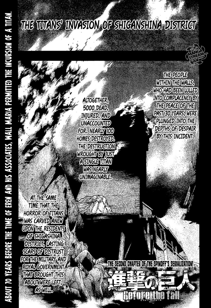 Shingeki no Kyojin - Before the Fall 2 Page 1