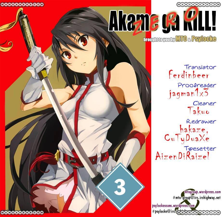 Akame ga Kiru! Zero 3 Page 1