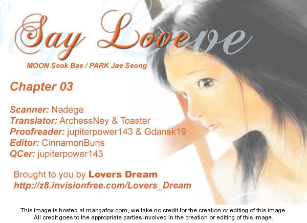 Say Love 3 Page 1