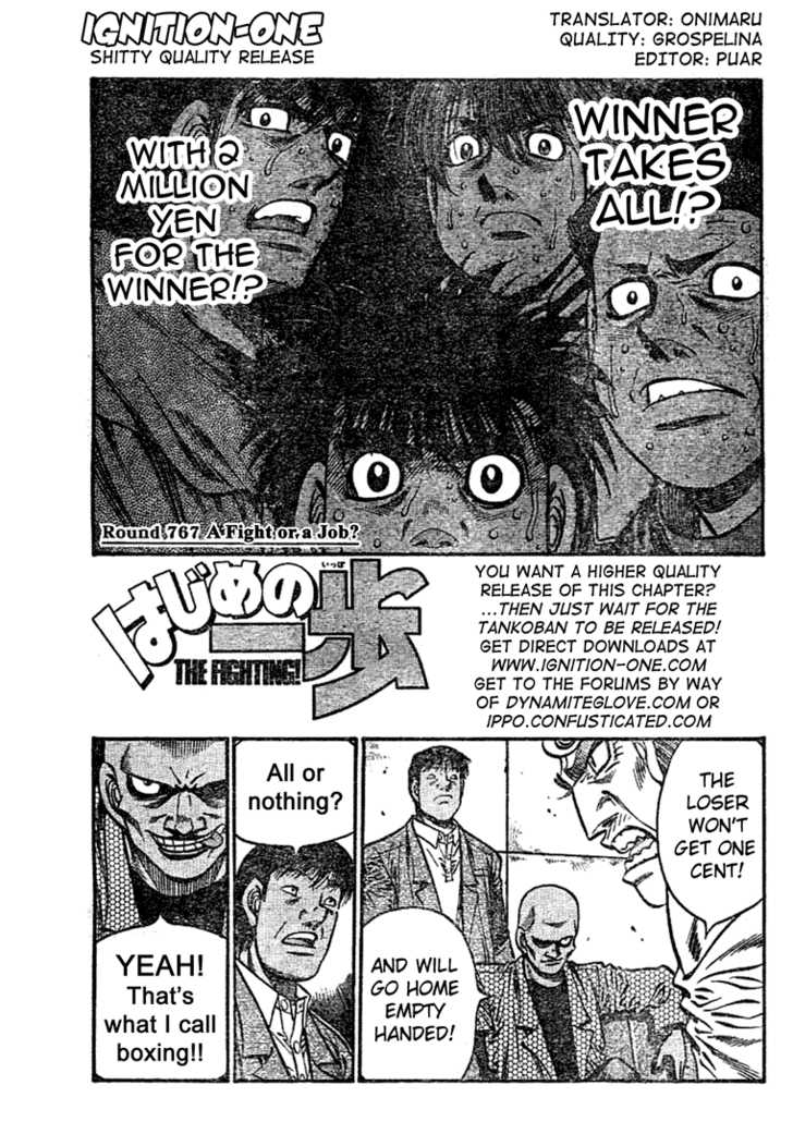 Hajime no Ippo 767 Page 1