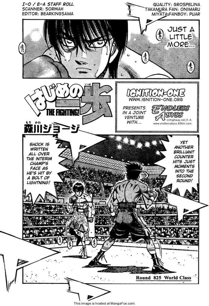 Hajime no Ippo 825 Page 1