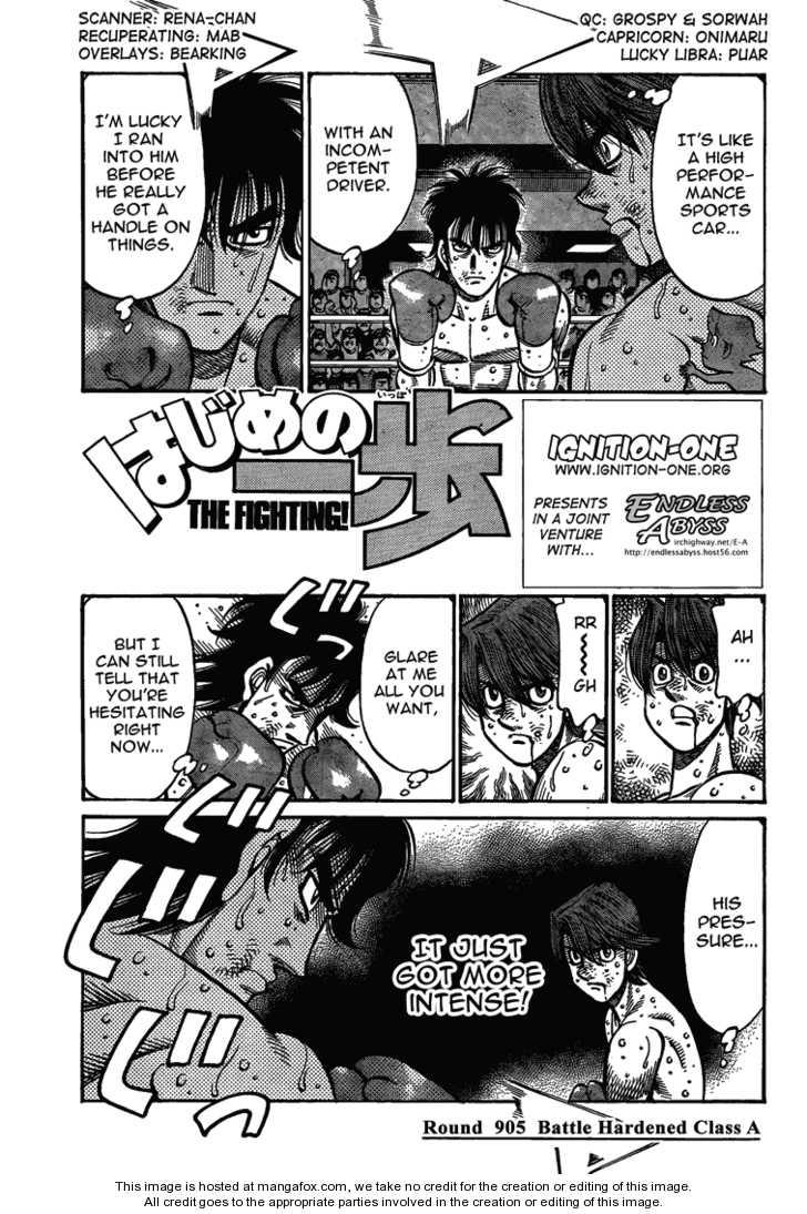 Hajime no Ippo 905 Page 1