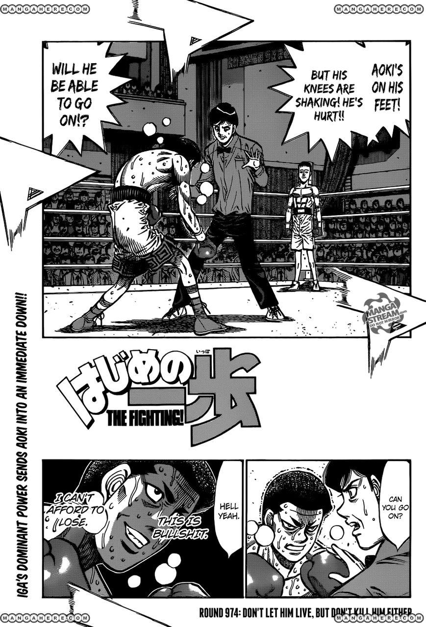 Hajime no Ippo 974 Page 1