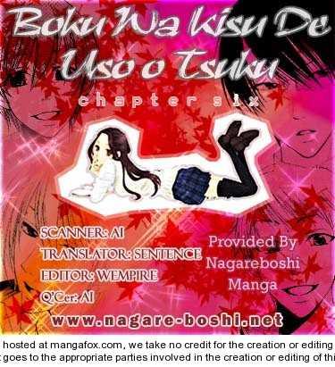 Boku wa Kisu de Uso wo Tsuku 6 Page 1