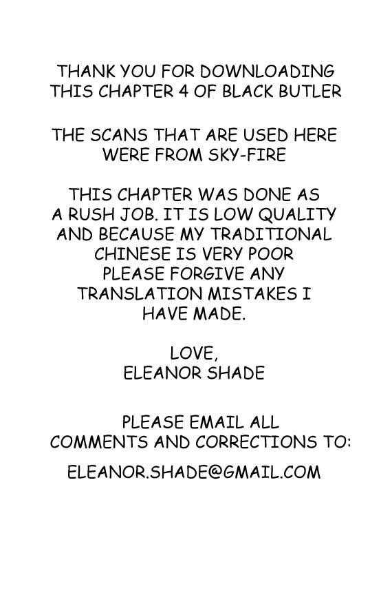 Kuroshitsuji 4 Page 1
