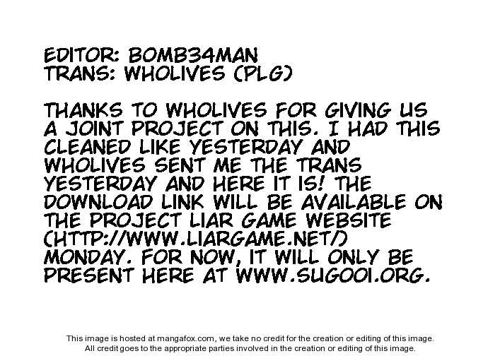 Liar Game 42 Page 1