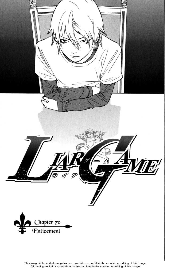 Liar Game 70 Page 1