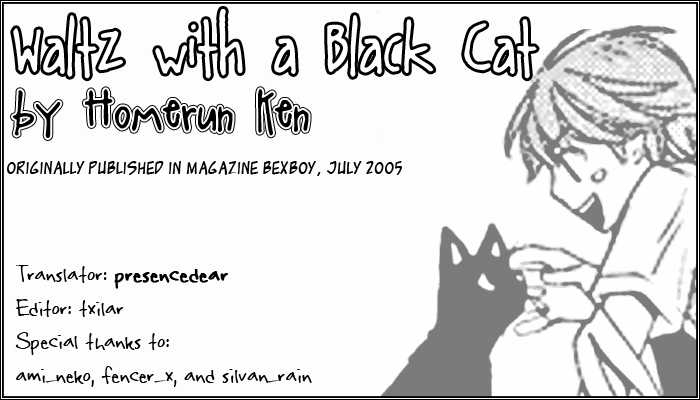 Waltz with a Black Cat 1 Page 1