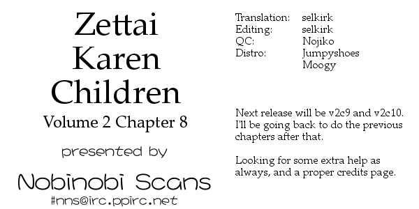 Zettai Karen Children 8 Page 1