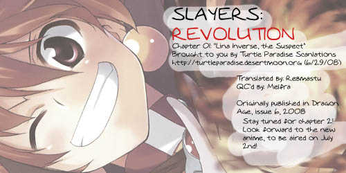 Slayers Revolution 1 Page 1