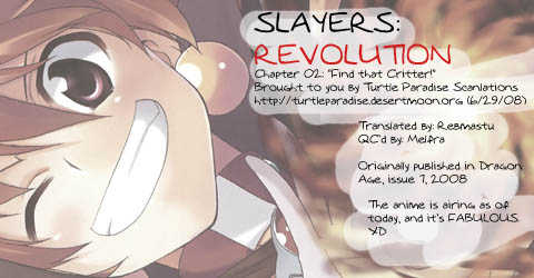 Slayers Revolution 2 Page 1