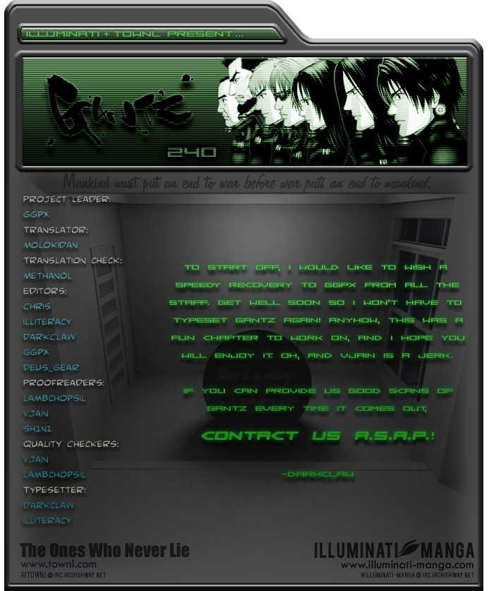 Gantz 240 Page 1