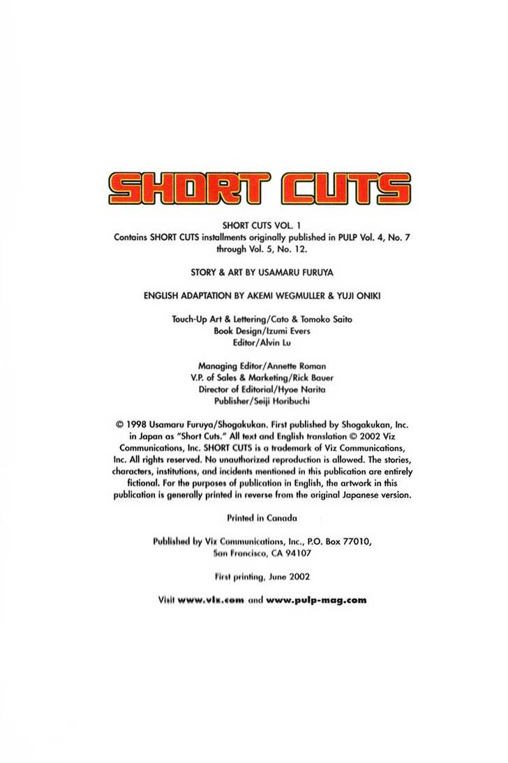 Short Cuts 1 Page 1