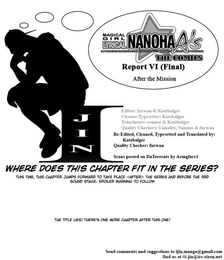 Mahou Shoujo Lyrical Nanoha A's 6 Page 1