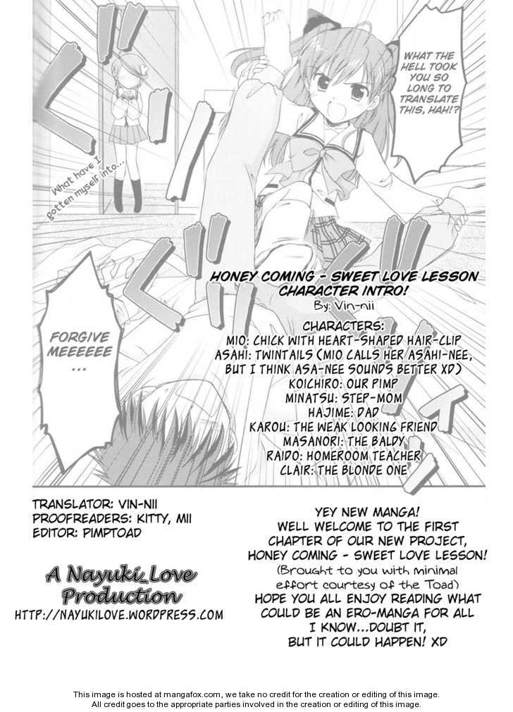 Honey Coming - Sweet Love Lesson 1 Page 1