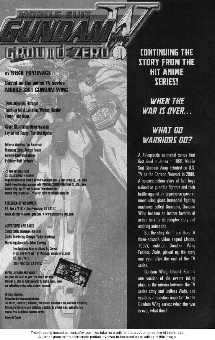 Shin Kidou Senki Gundam W: Ground Zero 1 Page 2