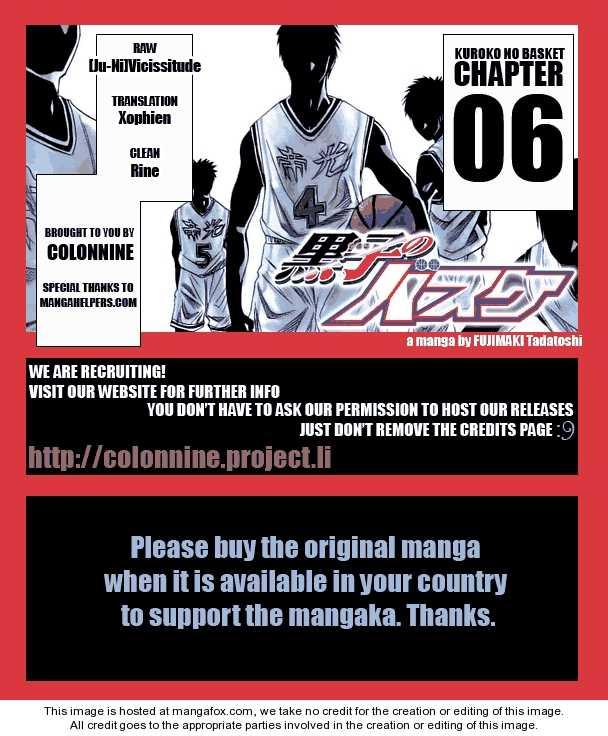Kuroko no Basket 6 Page 1