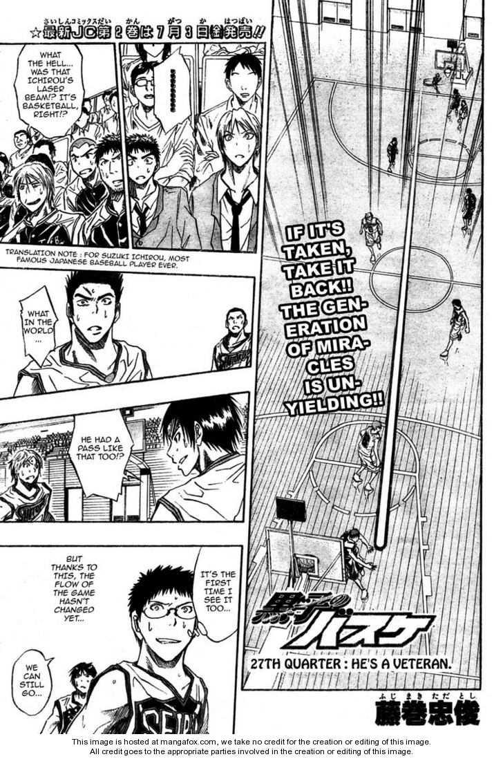 Kuroko no Basket 27 Page 1