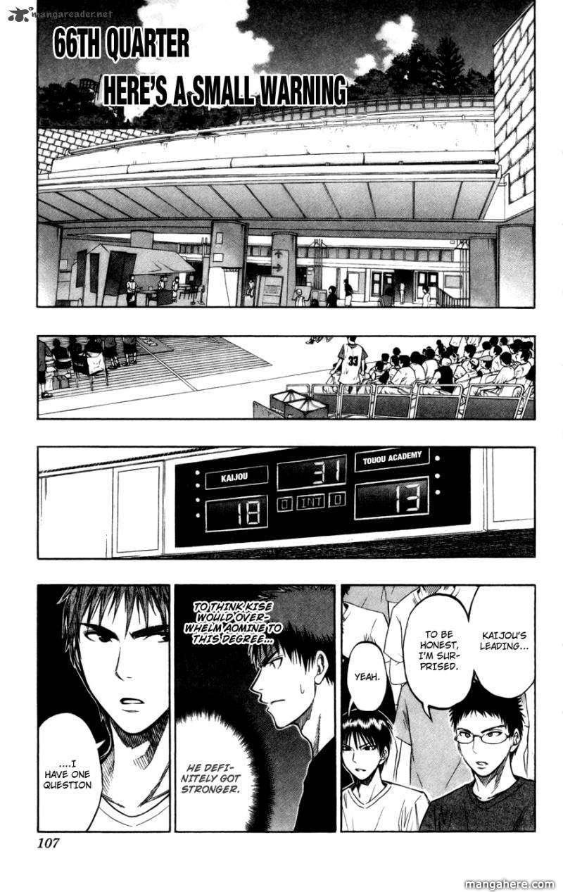 Kuroko no Basket 66 Page 1