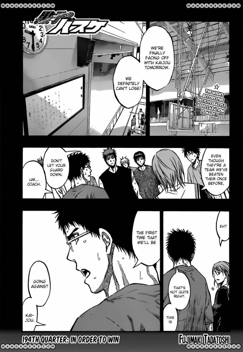 Kuroko no Basket 194 Page 1