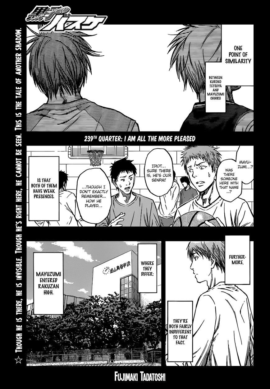 Kuroko no Basket 239 Page 1