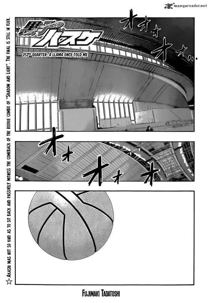 Kuroko no Basket 252 Page 1