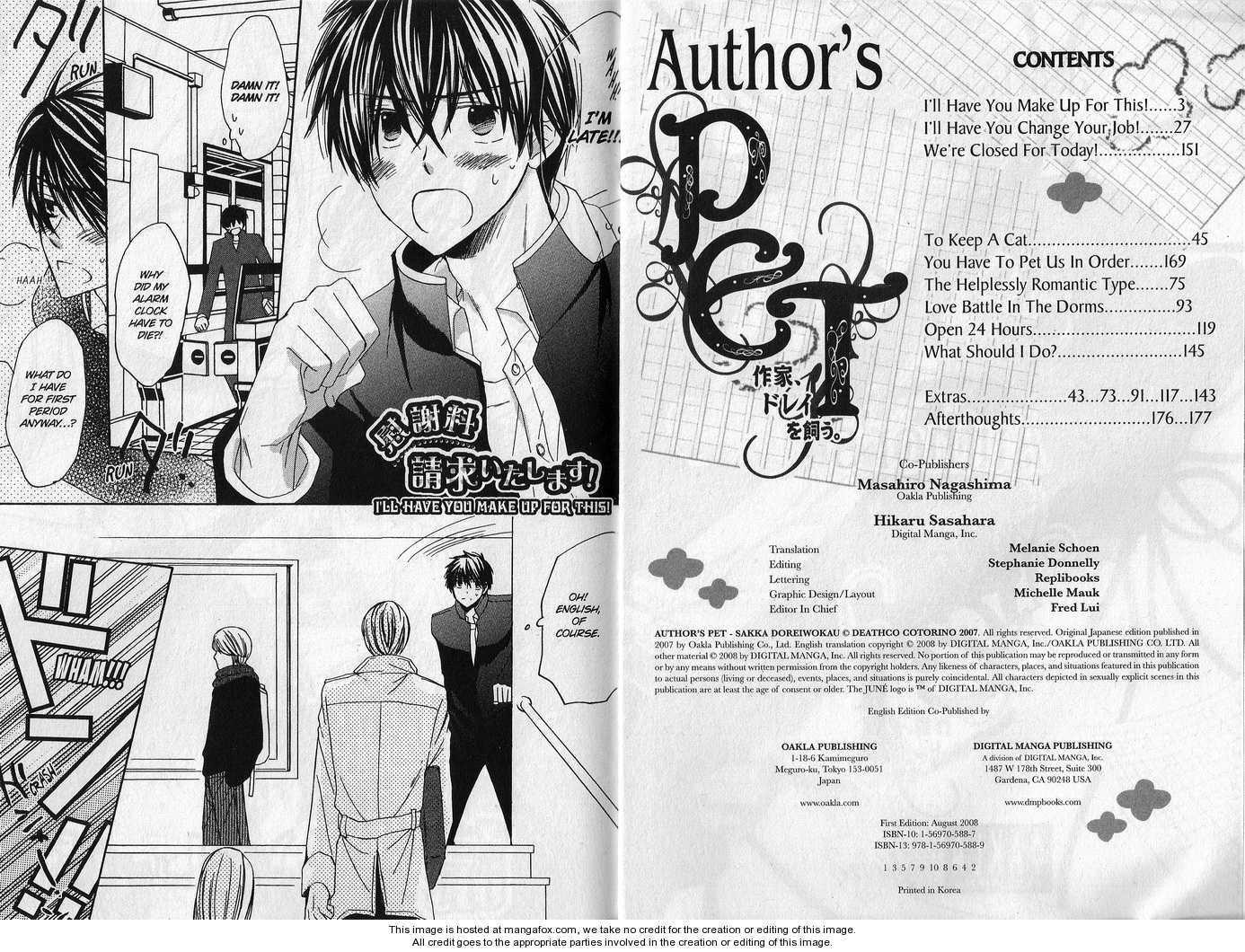 Author's Pet 1 Page 3
