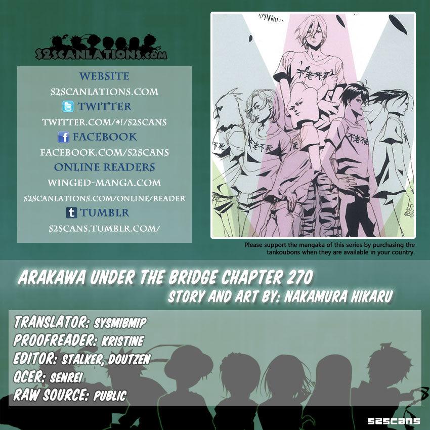 Arakawa Under the Bridge 270 Page 1