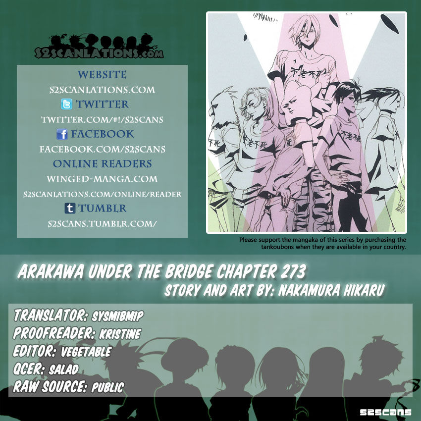 Arakawa Under the Bridge 273 Page 1