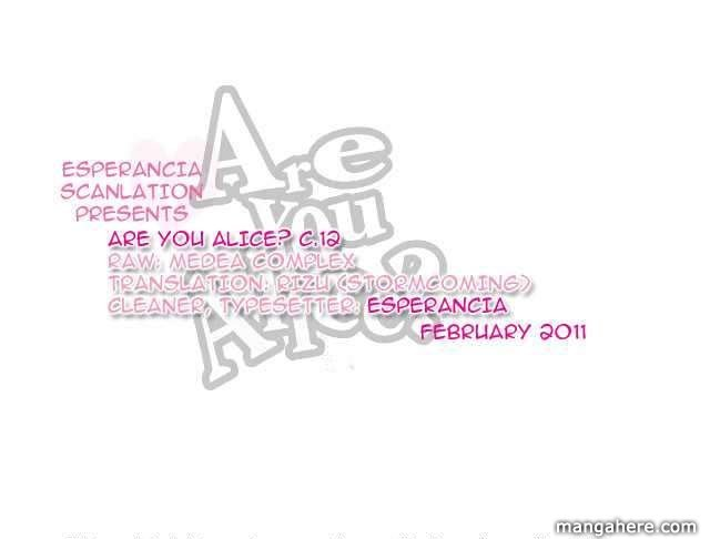 Are You Alice? 12 Page 1