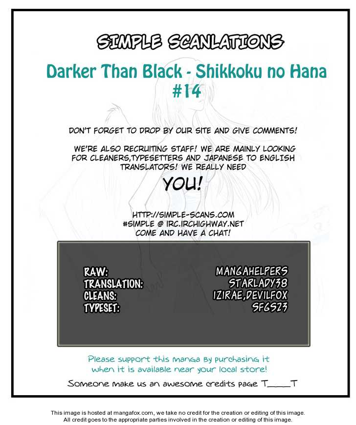 Darker Than Black: Shikkoku no Hana 14 Page 1