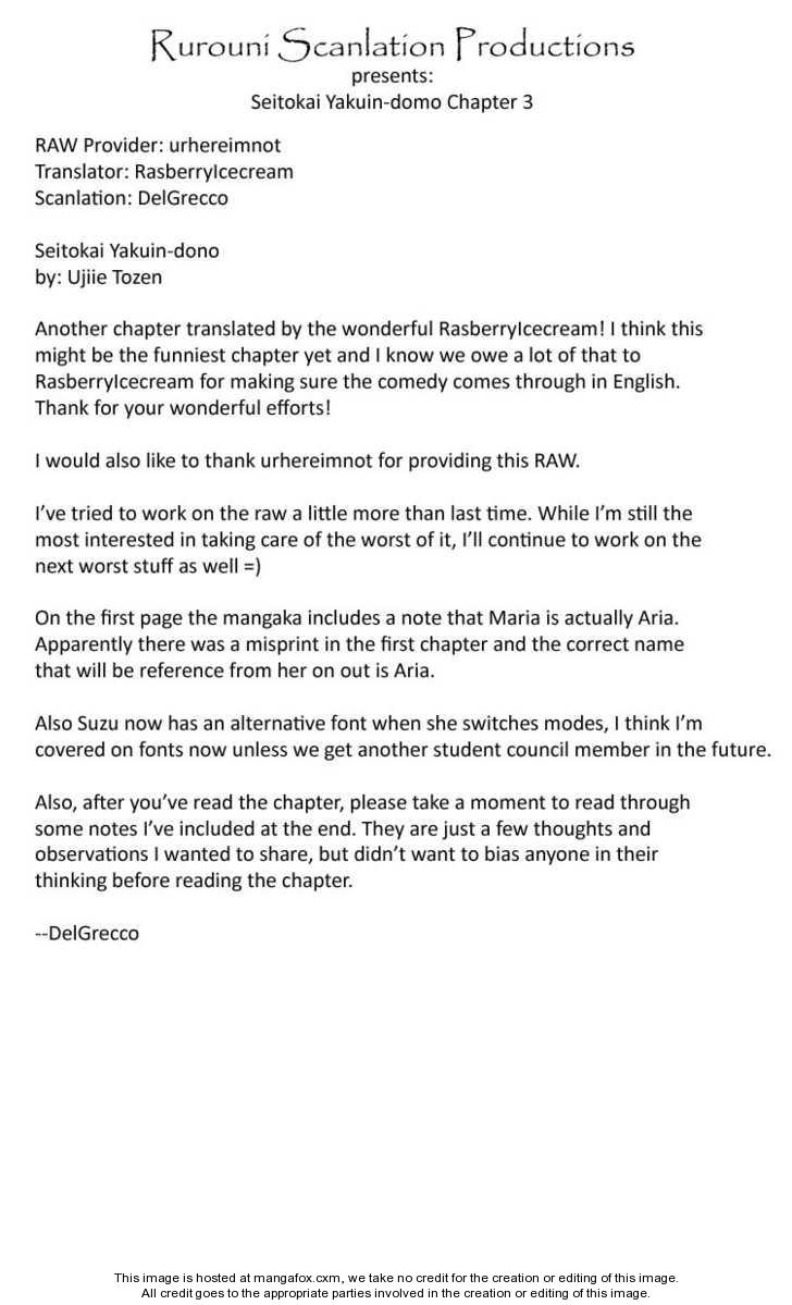 Seitokai Yakuindomo 3 Page 1
