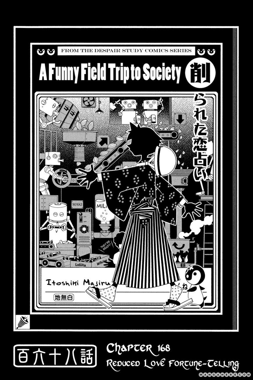 Sayonara Zetsubou Sensei 168 Page 1