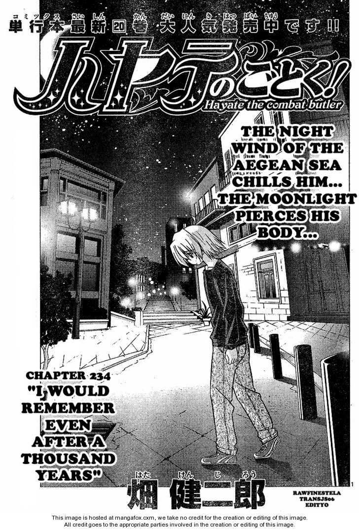 Hayate the Combat Butler 234 Page 1