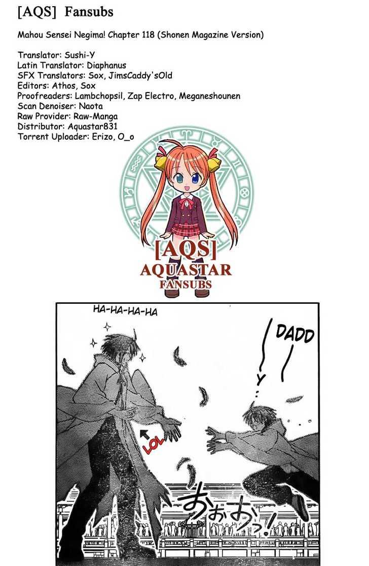 Mahou Sensei Negima! 118 Page 1