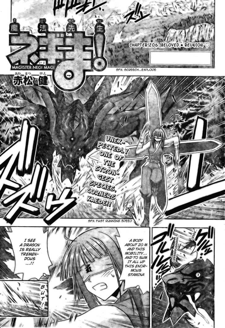 Mahou Sensei Negima! 206 Page 1