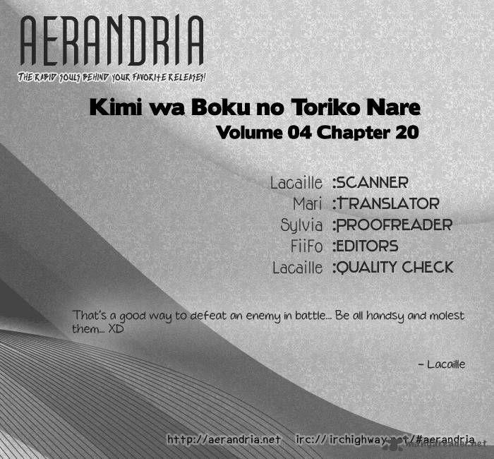 Kimi wa Boku no Toriko Nare 20 Page 2